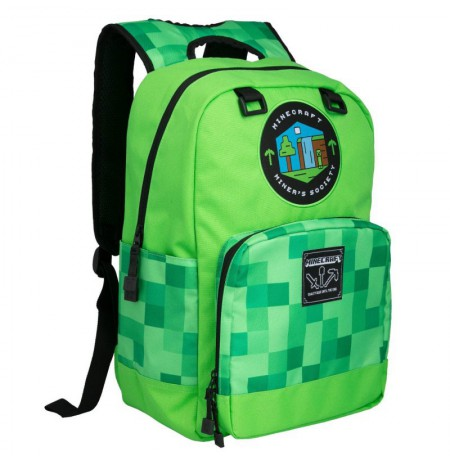 "Minecraft Miner's Society Kids 17"" Backpack"
