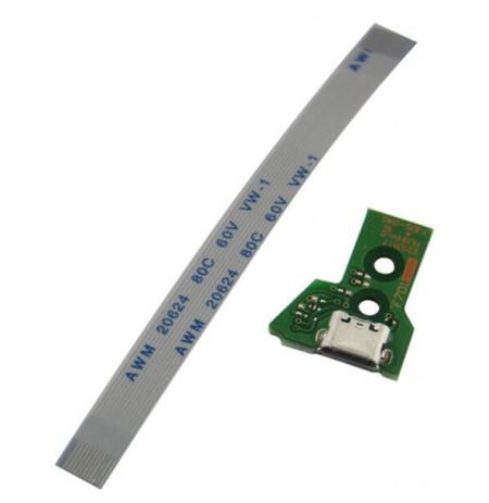 Dualshock 4 V2 valdiklio krovimo lizdas (12 pin) su laidu