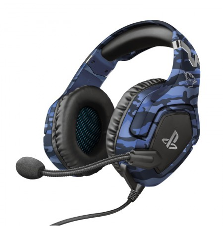 TRUST GXT 488 FORZE PS4 blue wired headset | 3.5mm