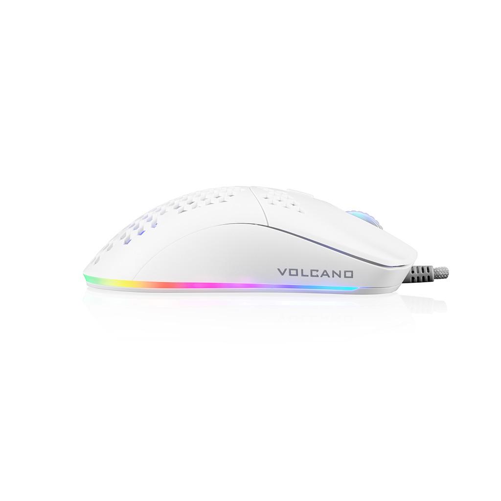 MODECOM SHINOBI 3327 balta laidinė optinė pelė | 6200 DPI