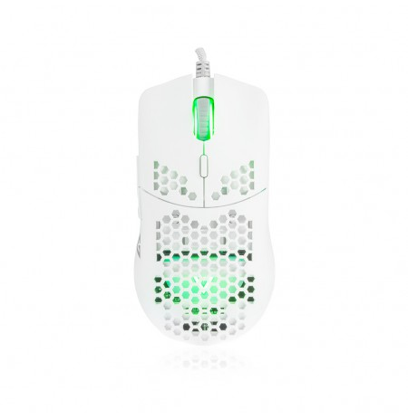 MODECOM SHINOBI 3360 wired white optical mouse | 12 000 DPI