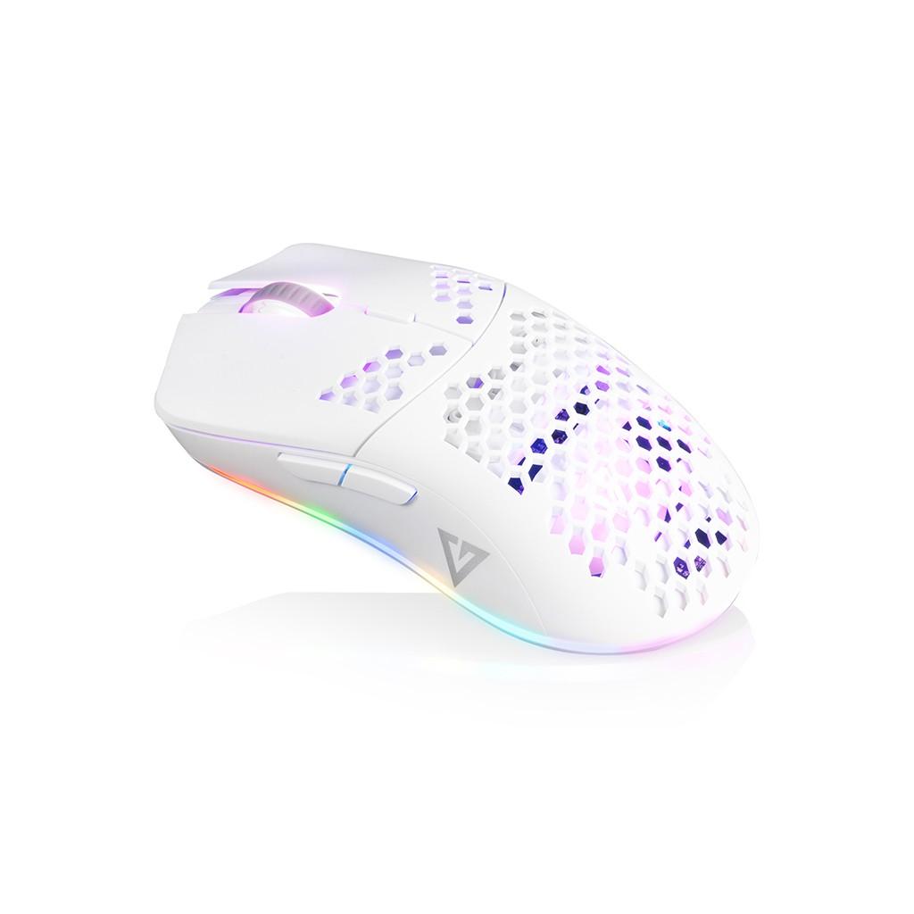 MODECOM SHINOBI 3360 balta laidinė optinė pelė | 12 000 DPI