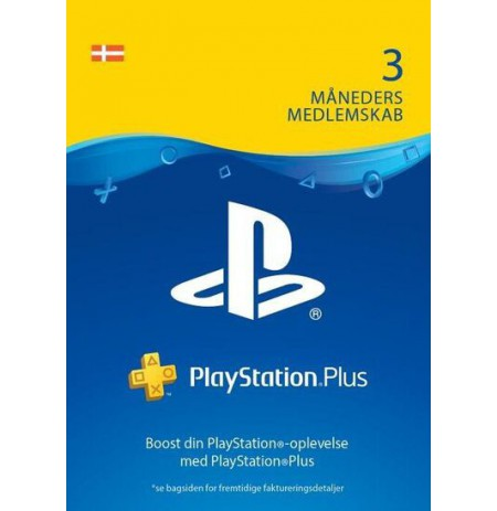 Playstation PLUS Card 90D (Danija)