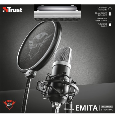 TRUST GXT 252 Emita Streaming Microphone | USB