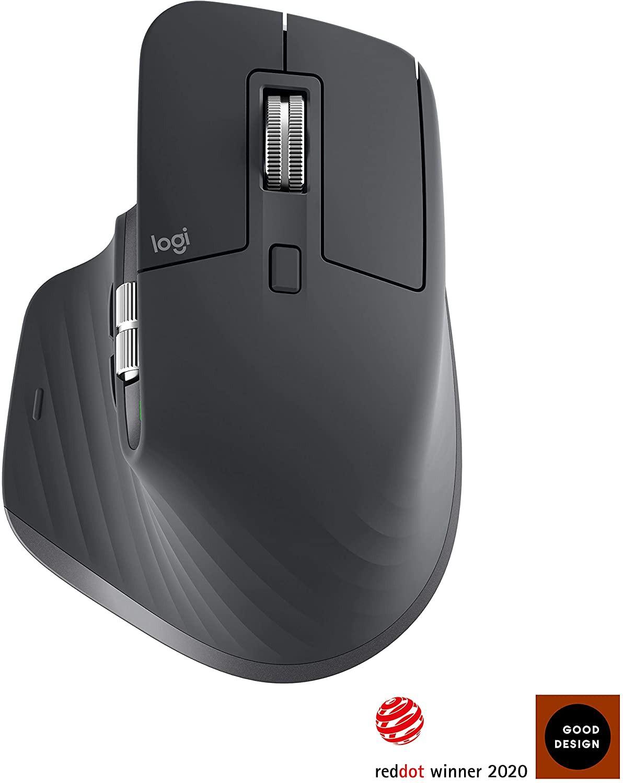 Logitech MX Master 3 tamsiai pilka belaidė pelė | 4000 DPI