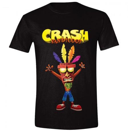 CRASH BANDICOOT - AKU AKU juodi marškinėliai - XL dydis