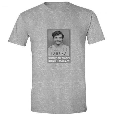 NARCOS - PABLO GENIUS CRAZY pilki marškinėliai - XL dydis