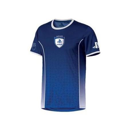 Playstation - League Symbol Fade mėlyni marškinėliai - L dydis