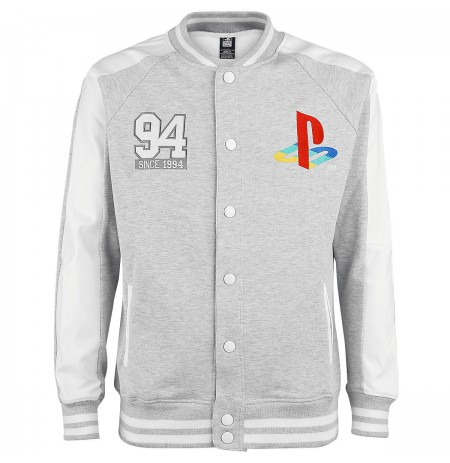 Playstation - Since 94 College Jacket - Grey - Large