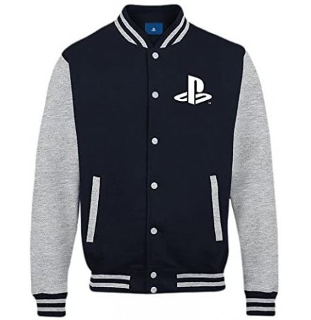 Playstation - Buttons Men College Jacket - Navy/Grey Melange - L