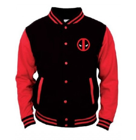 DEADPOOL - LOGO College Jacket - BLACK/RED - Extra large