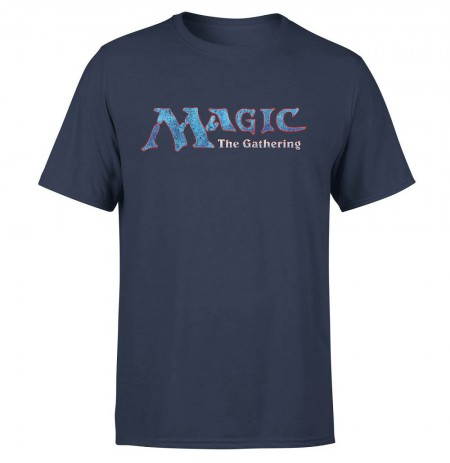 MAGIC THE GATHERING - 93 VINTAGE LOGO NAVY T-shirt LARGE