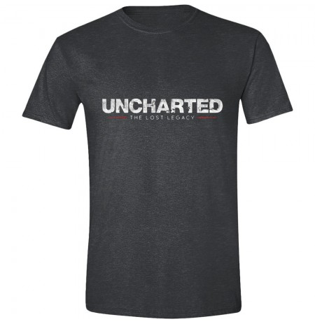 UNCHARTED - THE LOST LEGACY LOGO pilki marškinėliai - S dydis