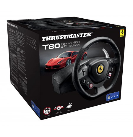 Thrustmaster T80 Ferrari 488 GTB Edition Racing Wheel (PS3/PS4)