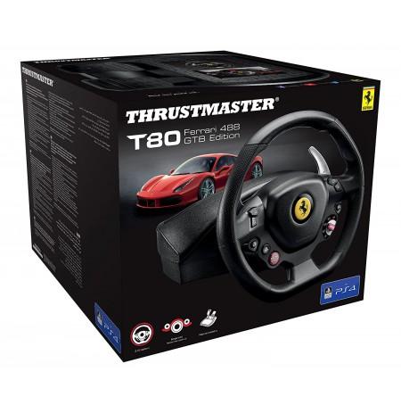 Thrustmaster T80 Ferrari 488 GTB Edition Racing Wheel (PS3/PS4)