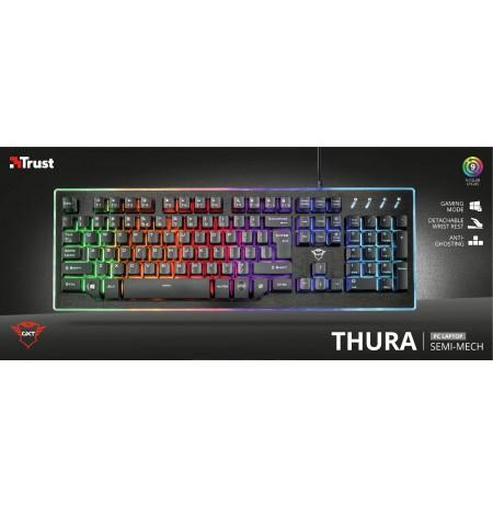 TRUST GXT 860 Thura mecha-membraninė klaviatūra | US