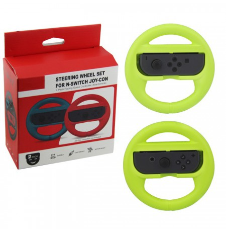 Nintendo Switch Joy-Con Steering Wheel Set (Green)
