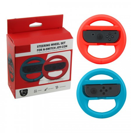 Nintendo Switch Joy-Con Steering Wheel Set (Green) 2pcs