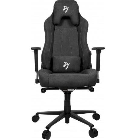 Arozzi VERNAZZA SOFT FABRIC Tamsiai pilka ergonominė kėdė