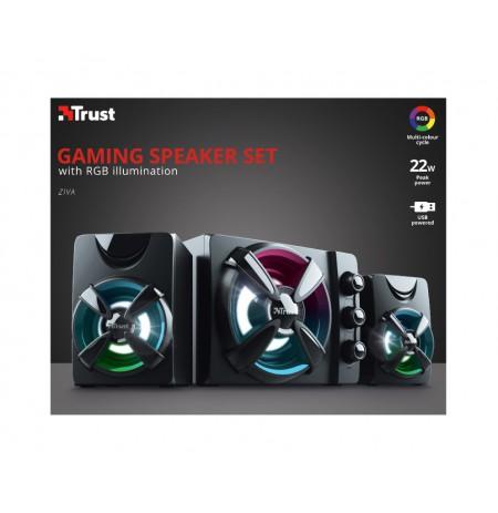 TRUST Ziva RGB 2.1 Gaming Speaker Set 2.1 kolonėlės