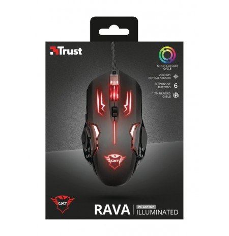 TRUST GXT 108 Rava Illuminated Gaming Mouse | 2000 DPI