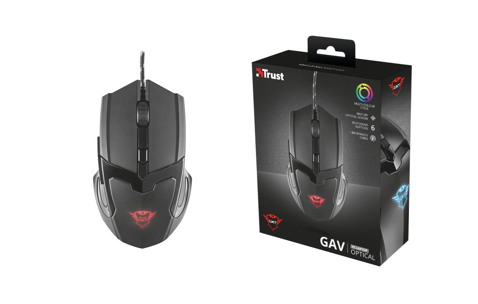 TRUST GXT 101 Gav laidinė pelė | 4800 DPI
