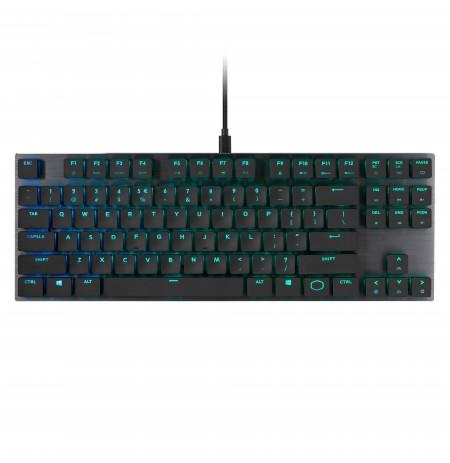 COOLER MASTER MASTERKEYS SK630 mechaninė laidinė/belaidė RGB klaviatūra | US  CHERRY MX RED LOW PROFILE