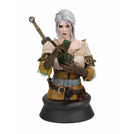 CIRI PLAYING GWENT BUST (The Witcher 3 Wild Hunt) statula | 20 cm