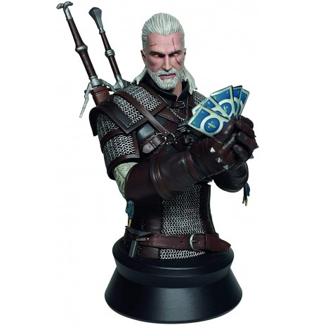 Geralt Playing Gwent (The Witcher 3 Wild Hunt) statula | 20 cm