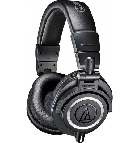 Audio Technica ATH-M50X wired headphones (Black) 3.5mm / 4.4mm