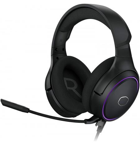 COOLER MASTER MH650 black 7.1 RGB headphones  | 3.5mm/USB/USB-C