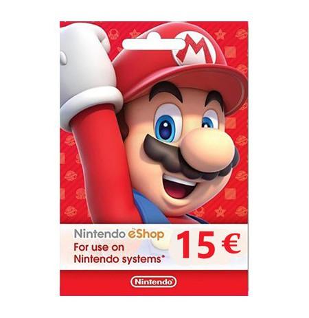 Nintendo eShop Card 15 EUR (EUROPOS ŠALYS)
