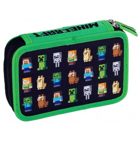 Minecraft pencil case 2 chambers