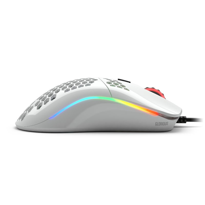 Glorious PC Gaming Race Model O laidinė pelė (blizgi, balta)