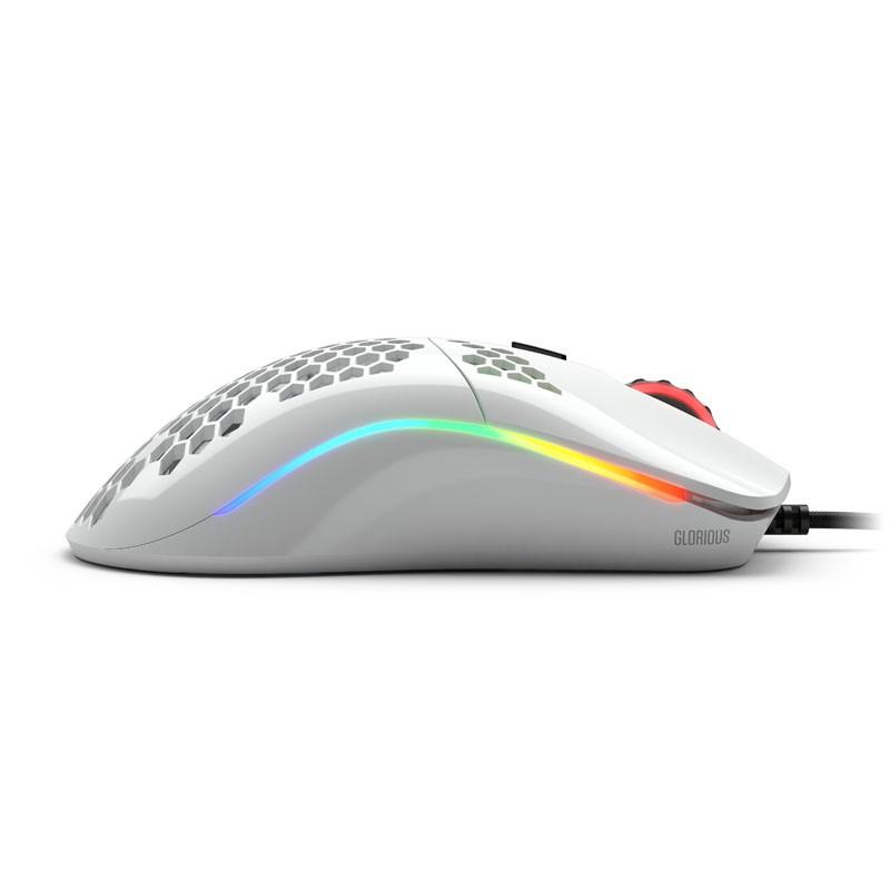 Glorious PC Gaming Race Model O- laidinė pelė (blizgi, balta)
