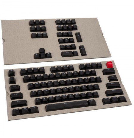 Glorious PC Gaming Race Keycaps - (104 vnt., black, ANSI, US layout)