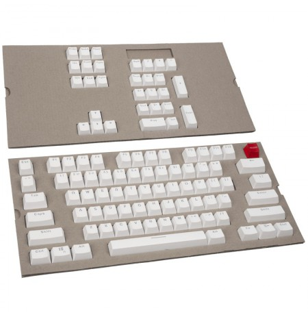 Glorious PC Gaming Race ABS Doubleshot Keycaps - (104 vnt., white, ANSI, US layout)