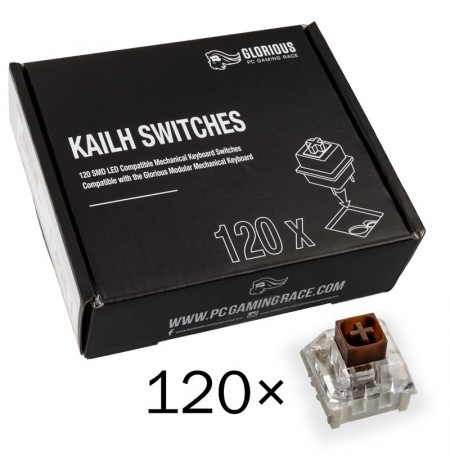 Glorious PC Gaming Race Kailh Box Brown switchai   Tactile & Silent (120 vnt)