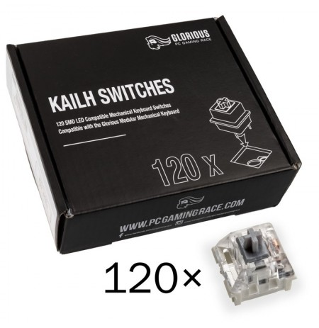 Glorious PC Gaming Race Kailh Speed Silver Switches | Linear & Silent (120 pcs)