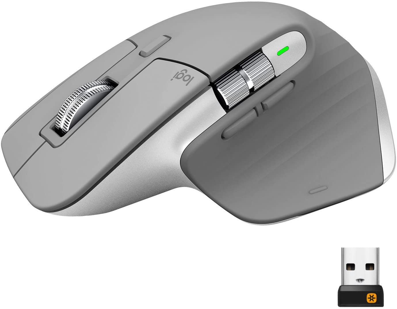 Logitech MX Master 3 šviesiai pilka belaidė pelė | 4000 DPI