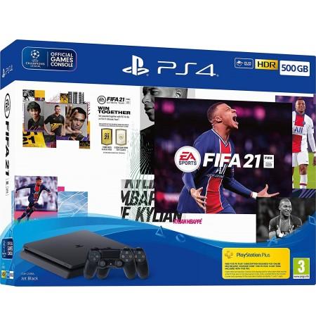 Žaidimų konsolė SONY PlayStation 4 (PS4) Slim 500 GB (juoda) - FIFA 21 Dualshock bundle