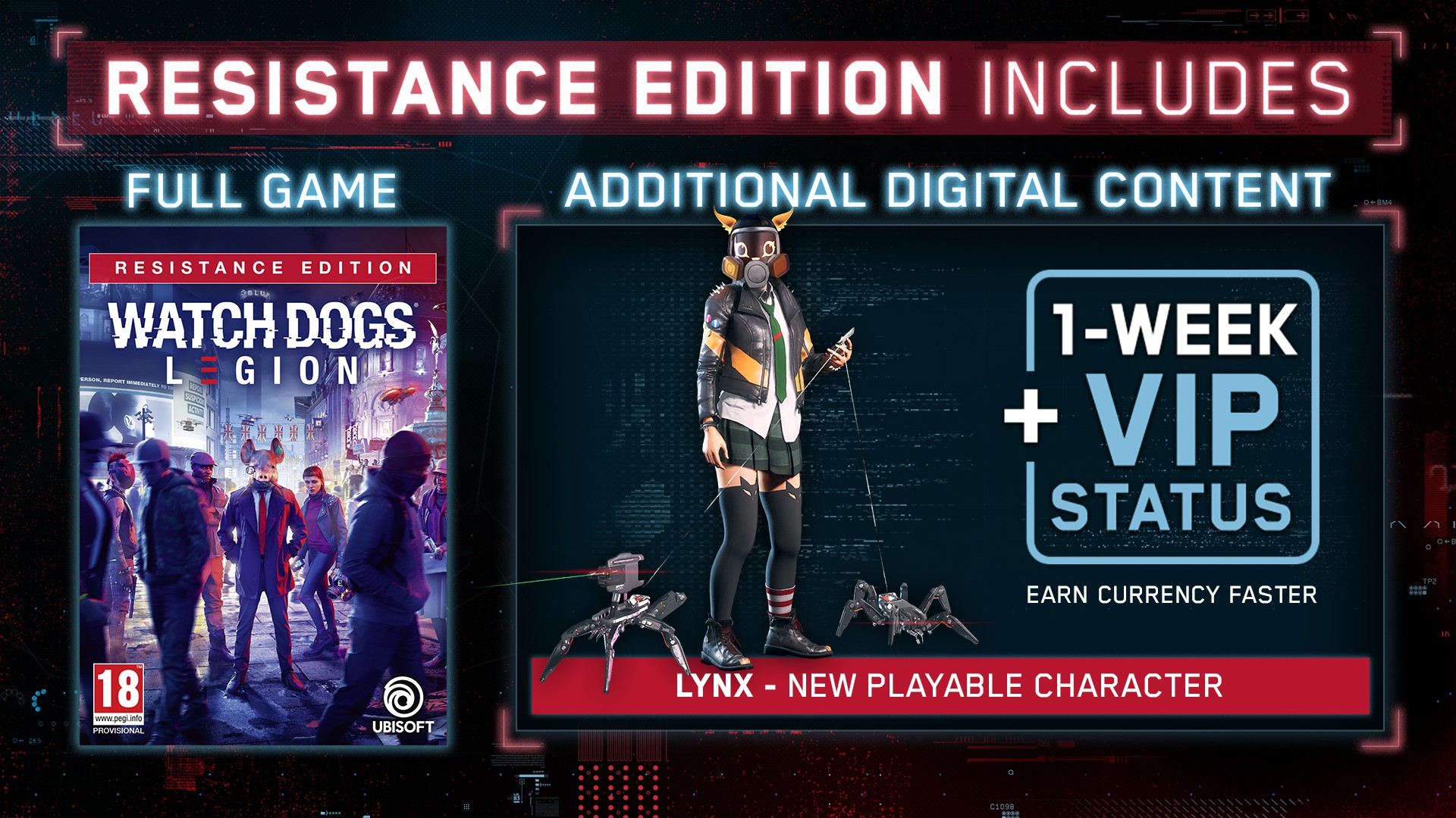 Watch Dogs Legion Resistance Edition + Preorder Bonus