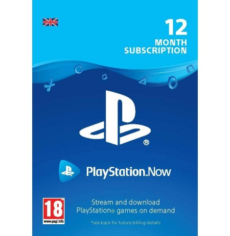 PlayStation Now - Prenumerata 12mėn (Jungtinė karalystė)