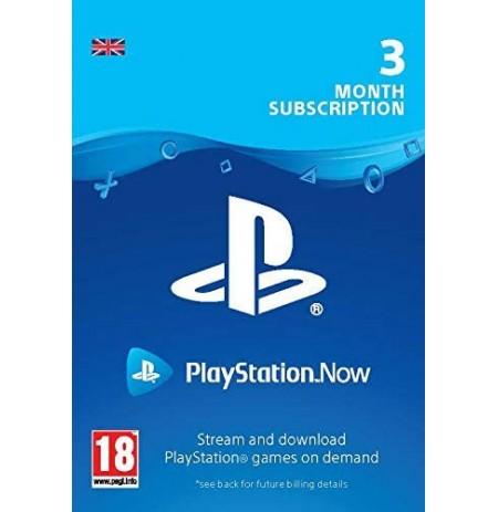 PlayStation Now - Prenumerata 3mėn (Jungtinė karalystė)