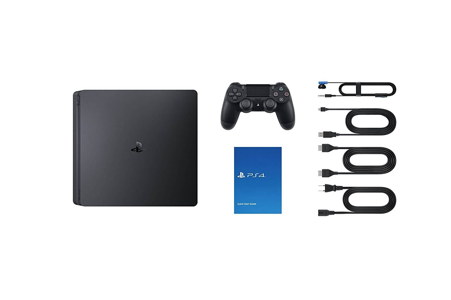 Žaidimų konsolė SONY PlayStation 4 (PS4) Slim 500GB (juoda) (Spider-Man, Horizon Zero Dawn CE, Ratchet and Clank