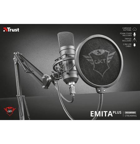 TRUST GXT 252+ Emita Plus laidinis mikrofonas + laikiklis | USB
