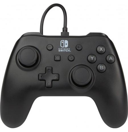 PowerA juodas laidinis valdiklis skirtas Nintendo Switch