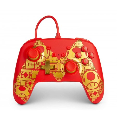 PowerA WIRED Super Mario Golden M CONTROLLER FOR NINTENDO SWITCH