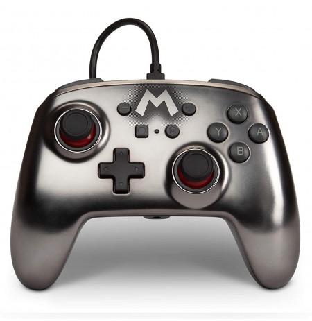 PowerA Super Mario Silver laidinis valdiklis skirtas Nintendo Switch