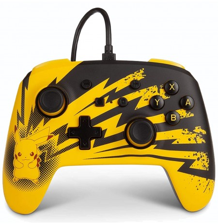 PowerA WIRED Pokemon Lightning Pikachu CONTROLLER FOR NINTENDO SWITCH